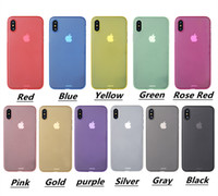 Wholesale Iphone Elements - New case for iphone x 11 colors popular elements all-inclusive ultra-thin frosted PP phone case for iphone x