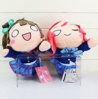 videos en vivo al por mayor-Anime LoveLive! Peluches Love Live! Escuela Ídolo Proyecto Kotori Minami Maki Nishikino Figuras Postura acostada Muñecos de peluche Juguetes EMS