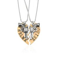 Wholesale Freedom Girl - 2pcs THELMA LOUISE Pendant Necklaces Heart Friendship Adventure Freedom Best Friends Forever Creative Girl Keepsake Gift 161761