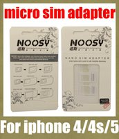Wholesale noosy sim card adapter nano sim adapter tray holder sim card tray for iphone s micro sim card tray for most mobile phone OTH022