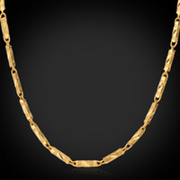 Wholesale Chunky Link Necklace For Women - November New 18K Real Chunky Gold Plated Link Chain Necklace Christmas Gift Cool Fashion Jewelry For Women  Men Wholesale YN214