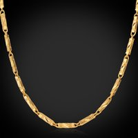 Novembro Novo 18K Real Chunky Gold Plated Link Chain Necklace Gift de Natal Cool Fashion Jewelry para mulheres / homens atacado YN214