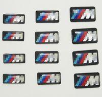 Wholesale Bmw E36 Wheels - 100pcs Tec Sport vehicle wheel Badge 3D Emblem Sticker Decals Logo For bmw M Series M1 M3 M5 M6 X1 X3 X5 X6 E34 E36 E6 car styling stickers