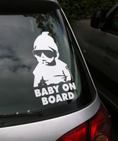 Wholesale Car Decals Baby Board - 10PCS Small Size Car Sticker Cool Baby on Board Car Styling Motorcycle Sticker Vinyl Decal Reflective Personalized Waterproof