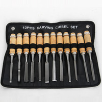 Wholesale Hand Carve Wood - Woodworking engraving knife 12 piece suit carved wood tools hand engraving chisel
