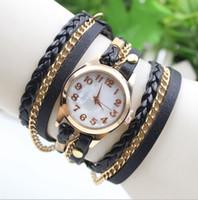 Wholesale Trendy Belt Bracelets For Women - Steel Chain Strap Fashion Women Dress Watches Casual Quartz Leather Watches for Women Hawaii Trendy Wrist Watches Women Bracelet Watch
