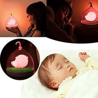 Decor Hut Childrens, Toddler et Baby Bird Night Light, Pink, Great Christmas Gift! Dim ou Brighten, Led Lights avec chargeur Usb Incl
