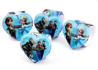 Wholesale Silicone Slap Jelly - Frozen slap watch silicone digital Watch Rubber cartoon quartz kid Jelly watch PAPA Bracelet Band Party Child Gift