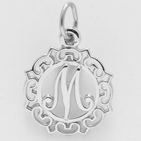 Wholesale Greek Letter Charms Wholesale - Free shipping New Fashion Easy to diy 20pcs Greek letter M open round charm jewelry making fit for necklace or bracelet