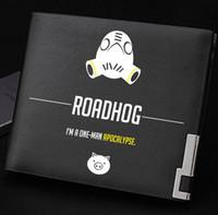 Wholesale Money Coins Games - Roadhog wallet One man apocalypse purse Game short long cash note case Money notecase Leather burse bag Card holders