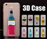 Wholesale Exclusive Cases - Exclusive 3D Red Wine Cup Liquid Transparent Hard Case Cover For Apple iPhone 5 6 6plus Phone Cases Flowing Wine Back Covers