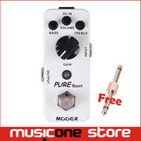 Wholesale Mooer Free Shipping - Mooer Pure Boost Boost Pedal 20db clean boost with 15db 2 band EQ Full metal shell True bypass Free shipping MU0345