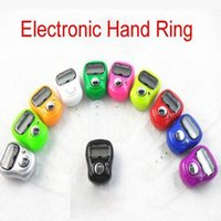 Wholesale Tasbih Digital Wholesale - Mini Digital Electronic Muslim Finger Ring Tally Counter Tasbeeh Tasbih Golf &Temple 800 pcs Free Shipping DHL JF-B3