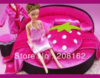 Figures gros-ultra-luxe Lit Doll Bed Rose Queen Beds Dolls Accessoires d'action