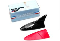 Wholesale Shark Energy - Best selling 6 LED Shark Fin Shaped Solar Energy Rear-End Anti-Collision LED Alarm Light for Car Random Color