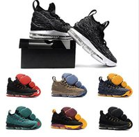Wholesale Top High Cut Sneakers - 2017 Lebron 15 Basketball Shoes LBJ Sneakers James 15s High Top Zip Mens Soldier Casual Shoes For Men size 7-12