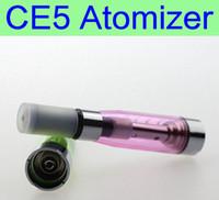 сигарета серии e оптовых-10 шт. / лот ego серии Ce5 распылитель Wickless eGo нить 2.4 ом 7 цветов испаритель для eGo последовательный электронная сигарета clearomizer