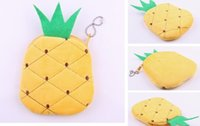Wholesale Fruit Pineapple Plush Cotton CM Pocket Coin Purse Wallet Pouch Case BAG Women Lady Bags Pouch Makeup Case Holder BAG Handbag