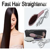 Rápido Hair Straightener Alisamento Irons com display LCD elétrica cabelo reto Combs Hair Styling Ferramenta Flat Irons