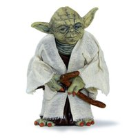 figures d'action yoda achat en gros de-Star Wars 12cm maître Jedi Yoda action PVC Figure Simulation Model Toy Yoda Toy Collector cadeau