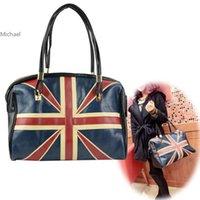 Wholesale England Flag Tote - Latest Fashion womens handbags and purses Synthetic Leather England Flag Handbag Shoulder Bag Tote F