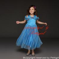 tienda de mariposas al por mayor-Pettigirl Minorista Vestidos de Cenicienta con Pins de Mariposas Chicas en capas Vestido de Fiesta Princesa Elegante Disfraz de Verano Gota de Compras GD50613-2