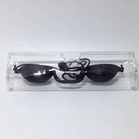 máquinas de bronzeamento venda por atacado-Tamax Beleza EG001 luz opaca preto UV Proteção para os Olhos Bronzeamento Óculos Eyeshields IPL LASER máquina PDT uso salão DHL expedição