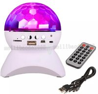 Wholesale Disco Speakers - RGB LED Crystal Magic Ball Stage Effect Light DJ Club Disco Party Lighting bluetooth speaker With USB  TF FM radio Remote MYY