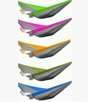 Wholesale Indoors Hammock - Free Shipping Outdoor or Indoor Parachute Cloth Sleeping Hammock Camping Hammock high quality multicolor