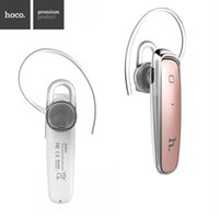 Wholesale Earphones For Iphone5 White - HOCO EPB04 Bluetooth Earphone v4.1 Wireless Music Handfree Universal Headset for iphone5 6 Samsung S5 6 HTC smart phone in Stock