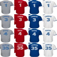 Wholesale Kelly S Kids - Cheap 2017 Mens Ladys Kids Toddlers Toronto 1 Kelly 3 Ezequiel Carrera 4 Luis Rivera 35 Josh Johnson Home Away Alternate Baseball Jerseys