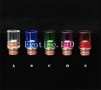 Wholesale Hot Rad - HOT!!! Colorful Glass Pyrex drip tip Stainless steel Wide Bore 510 Drip Tips fit 510 RAD RBA plus subtank OCC mini Nano mechanical mod tank