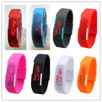 Wholesale Touch Watches Sale - 50pcs hot sale 14 colors Sports Wristwatch led Digital Display touch screen watches Rubber belt silicone bracelets watch D569
