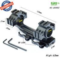 Wholesale Gun Telescopic Sights - KC LD3002 Quick detachable 25 30mm Scope Ring Telescopic Sights Gun Mount 30mm RifleScope Ring Low Mounts Weaver Rail