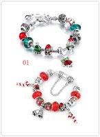 Wholesale Bell Chains - Handmade European Style Bracelet series Santa bell stick and macroporous Beaded Bracelet