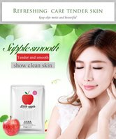 Wholesale Female Smell - Images Natural Apple Extracts Facial enzyme Mask fruit face natural smell soft skin Wrapped Vegetable Rejuvenating massage mask