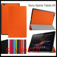 3 pliant étui en cuir Folio flip Smart Cover Support pour Sony Xperia tablette de 10 pouces Z2 Z3 Z4
