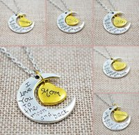 """Wholesale Fortune Necklace - Hot ! 20pcs New Family """"I LOVE YOU TO THE MOON AND BACK """" Necklace Pendant Fortune Gift"""