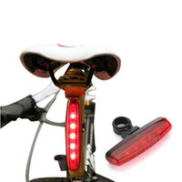 Wholesale Safty Rear Lights - 3 Modes Bike Bicycle Cycling 5 LED Flashlight Waterproof Rear Tail Safty Light Lamp Red Fits all bicycles Free Shipping order<$18no track