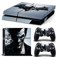 Cool Batman Design para PS4 Vinilo Skin Sticker Console Skin + 2 PCS Controller Cover Vinilos para PS4