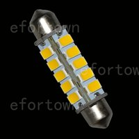 50pcs 42MM 20 a 5630-SMD LED Bombillas Interior Luz del techo blanco cálido, 1,65