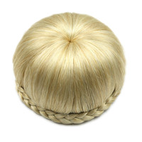 Wholesale chignon for sale - hanzi_beauty new Colors Synthetic Hair High Temperature Fiber Clip In Hair Braided Chignon Donut Roller Hairpieces Apple Shape Hair Bun