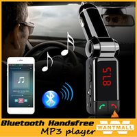 Wholesale Radio Handset - Car Bluetooth MP3 Player Audio AUX FM Transmitter Handsfree Speakerphone Handset Music Radio Kit Phone Charger for iPhone 5 4s 4 6 plus