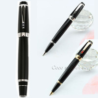 Wholesale High Quality Ball Pen - High Quality Luxury Pens Black Resin Mon With Gem stationery school&office supplies metal roller ball pen MB writing pen