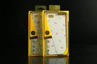 iphone 5s transparenter flip-fall großhandel-500 stücke PVC Kunststoff Kleinkasten Klar Benutzerdefinierte Verpackung Paket Für iphone 5 s 6 Telefon Flip Leder Abdeckung Zurück Fall