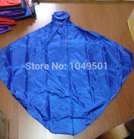 Wholesale Poncho Raincoat Bicycle - High quality 600g Fluorescent nylon fabrics Waterproof Hooded Rain Poncho single Bicycle Raincoat wiht Reflective article
