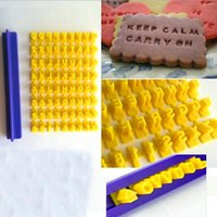 Wholesale Numbers Cookie Cutters - Alphabet Letter Number Biscuit Cookie Cutter Press Stamp Embosser Cake Mould HF265