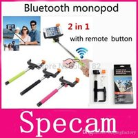 Wholesale Z07 extendable Wireless Bluetooth selfie Monopod For iphone IOS samsung Android Remote Control shutter Selfie Stick Tripod A3