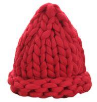 Wholesale Women Winter Hat Headgear - 8 Colors Winter Hats For Women Solid Knitted Beanies Cotton Wool Handmade Headgear de Invierno de Punto Sombreros MX0128
