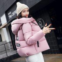 Wholesale Winter Jacket Fur Wadded - New Women Winter Jacket Warm Fur Collar Down Wadded Coat 2017 Slim Fit Solid Cotton-padded Jackets Thick Women Short Coat